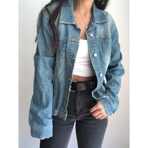 Vintage denim trucker jacket XL